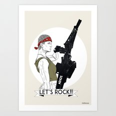 Let's rock! Art Print