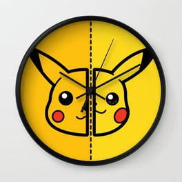 Old & New Pocketmonster Wall Clock