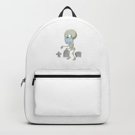 Skeleton Witch Face Mask Quarantined Halloween Gift Backpack