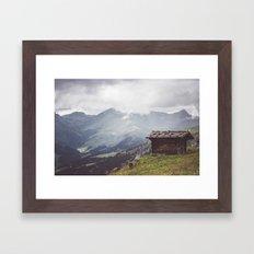 Alpine hut Framed Art Print
