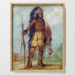 George Catlin A‑wun-né-wa-be, Bird of Thunder Serving Tray