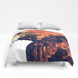 Illustrator triangle low poly Comforters