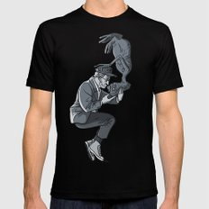 Cannes 2013 x Spielberg x ET (black and white) Black Mens Fitted Tee MEDIUM