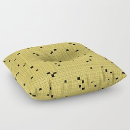Yellow and Black Grid - Missing Pieces Floor Pillow