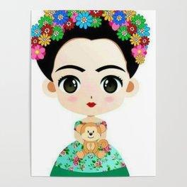 Frida Cartoon Poster