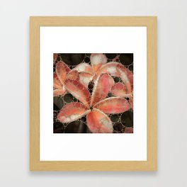 Percolated Tropical Flowers Framed Art Print