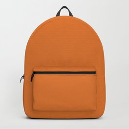 Russet Orange | Pantone Fashion Color | Fall : Winter 2018 | New York and London | Solid Color Backpack