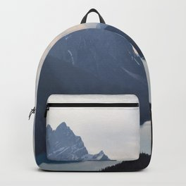 Top View of Mountain And Lake Backpack