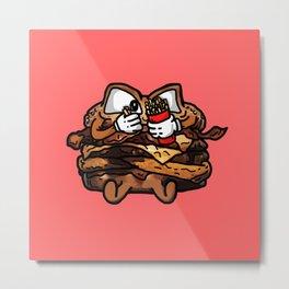 DoubleWestern Bacon Cheeseburger Metal Print