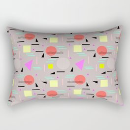 Memphis Forever - Taupe Rectangular Pillow