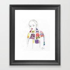 Rainbow Crochet Framed Art Print