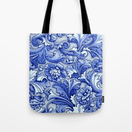 Blue and White Porcelain Tote Bag