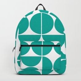 Mid Century Modern Geometric 04 Turquoise Backpack