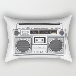 Vintage Portable Radio Cassette Player Retro Rectangular Pillow