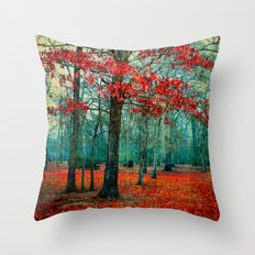 Dripping Cyan  Throw Pillow