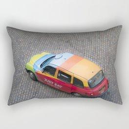 Scottish rainbow taxi Edinburgh Scotland Rectangular Pillow