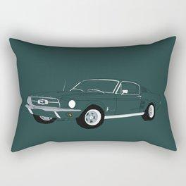 1968 Ford Mustang GT Rectangular Pillow