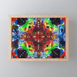 Technicolor Rorschach Framed Mini Art Print