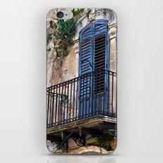 Blue Sicilian Door on the Balcony iPhone & iPod Skin