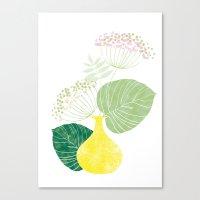 hydrangea Canvas Prints featuring Hydrangea by illustrationbycatherine