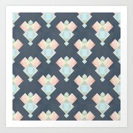 Tie Dye Diamonds Art Print
