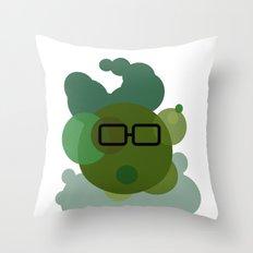 Wall Street Bacteria Throw Pillow