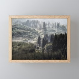 Hidden House in Majestic Forest Framed Mini Art Print