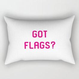 Got Flags Vexillologists Quote Rectangular Pillow