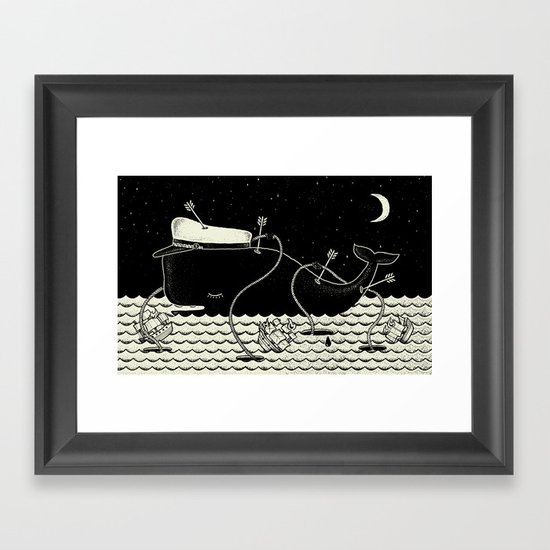 Go home Captain Jack, now you are free. Framed Art Print