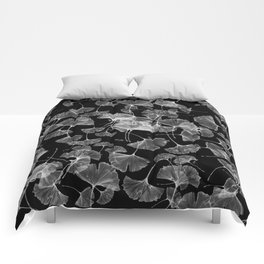 ginko biloba leaves pattern Comforters