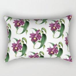 Purple Orchids Vintage Rectangular Pillow