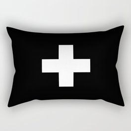 Swiss Cross Black and White Scandinavian Design for minimalism home room wall decor art apartment Rectangular Pillow