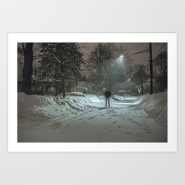 Froze Art Print