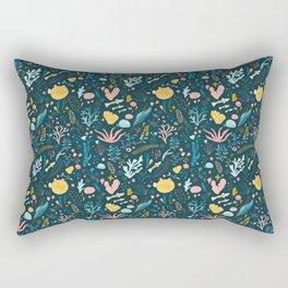 Underwater Jungle Rectangular Pillow