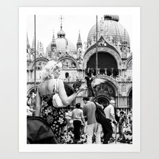 Birds of a Feather - St. Marks Square Italy Art Print