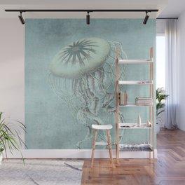 Jellyfish Underwater Aqua Turquoise Art Wall Mural