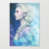 artgerm Canvas Prints featuring Frozen by Artgerm™