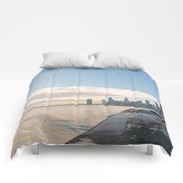 One December in Chicago Comforters