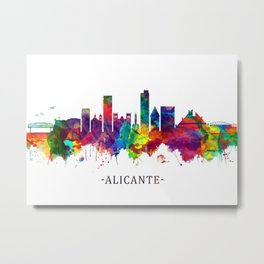 Alicante Spain Skyline Metal Print
