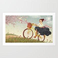 Happy Biking Day Art Print
