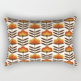 Boogie - retro florals minimal trendy 70s style throwback flower pattern Rectangular Pillow