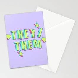 They/Them Stationery Cards