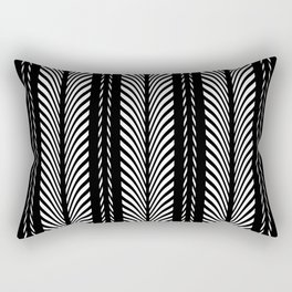 Geometric Black and White Herringbone Tribal Pattern Rectangular Pillow