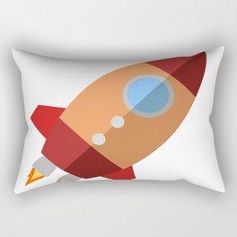 Rocket Ship Rectangular Pillow