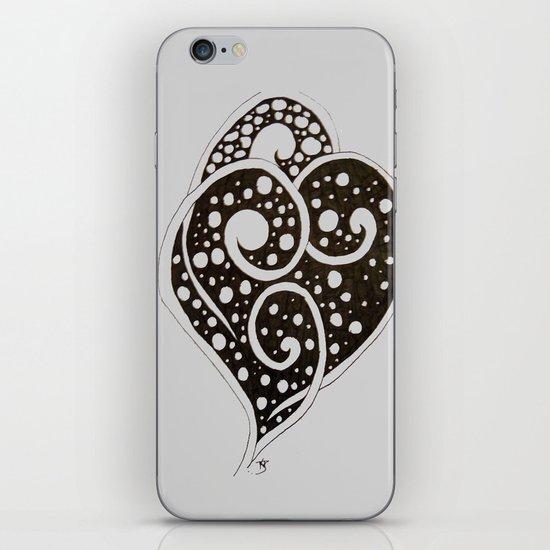 Black Leaf - Zentangle iPhone & iPod Skin