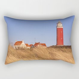 Lighthouse on Texel island in The Netherlands in morning light Rectangular Pillow