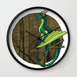 Horned Emerald Hunter Wall Clock