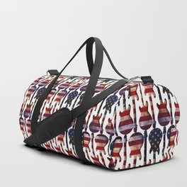American Flag Guitar Art Duffle Bag