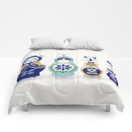 Russian Nesting Dolls – Blue & Gold Comforters