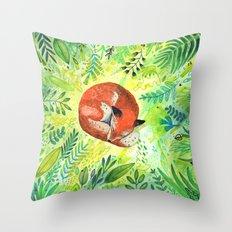 Nature's Heart Throw Pillow